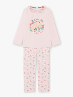 Pigiama t-shirt e pantaloni rosa bambina BEBICHETTE / 21H5PF63PYJD300