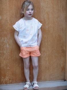 Shorts arancioni bambina ZIJOETTE / 21E2PFO1SHO406