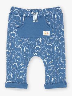 Pantaloni sportivi blu stampa ZAEMILIO / 21E1BGB1JGBC230