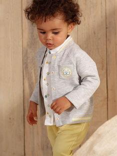 Cardigan grigio chiaro neonato ZAMAURICE / 21E1BGO1GILJ920