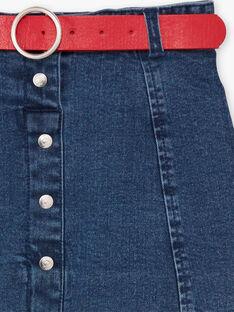 Gonna corta in jeans bambina BABETTE / 21H2PF11JUPP269