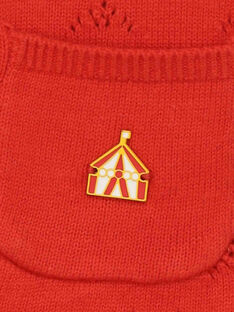 Cardigan rosso RAFABOU / 19E1BFC2CARF505