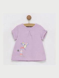 T-shirt maniche corte malva RAIRIS / 19E1BFD1TMC328