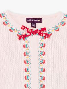 Cardigan rosa chiaro neonata TASUZIE / 20E1BFQ1CARD317