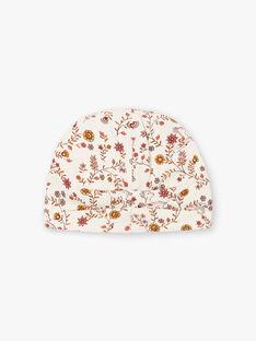 Berretto ecrù stampa a fiori neonata BINANA / 21H4BFC4BON001
