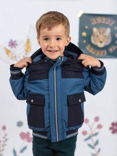 Parka con cappuccio blu acciaio bambino BAMATAGE / 21H3PGC1PARC202