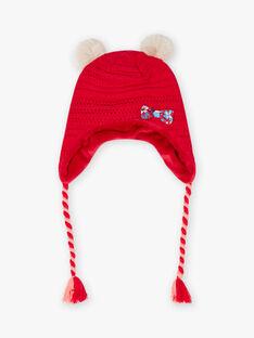 Berretto in maglia rossa bambina BLOZANETTE / 21H4PFE2BON308