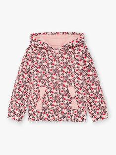 Felpa con cappuccio rosa e rossa bambina BROCHETTE / 21H2PF32JGHD314