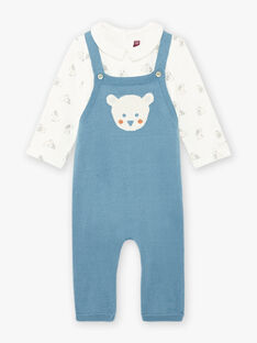 Set body e salopette in maglia con motivi orso nascita bambino BONNIS / 21H0CGK1ENS215
