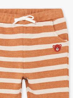 Pantaloni sportivi a righe neonato BALEONARD / 21H1BGJ1JGB809