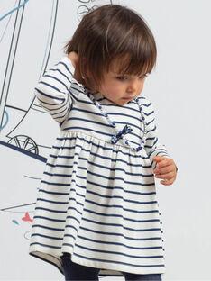 Completo abito a righe e leggings neonata BAKAMILLE / 21H1BFL1ENS001