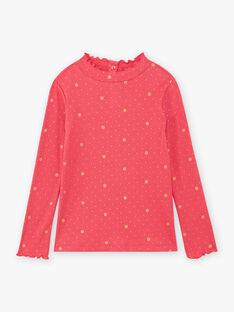 Dolcevita a maniche lunghe rosa e dorato bambina BRISOPETTE1 / 21H2PFM1SPL308