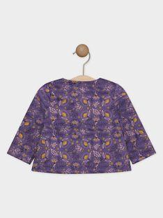 Camicia con stampa viola neonata SAGIANE / 19H1BF61CHE712