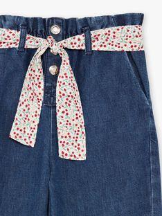 Jeans paperbag e cintura con stampa bambina BAFOETTE / 21H2PF11JEAP269
