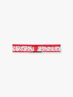 Fascia rossa con stampa a fiori neonata BAAMITIE / 21H4BF11BAN001