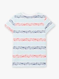 T-shirt a righe celesti bambino ZIZAGE / 21E3PGT1TMC000