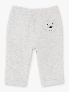 Pantaloni effetto lana grigi melange neonato BABOY / 21H1BG12PAN943