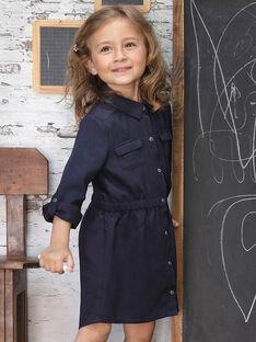 Abito sahariano blu inchiostro bambina BRORECETTE1 / 21H2PFB6ROBC214