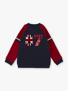 Giubbotto navy e rosso bambino BEDRAGE / 21H3PG51GIL070