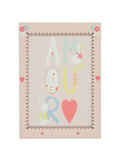 """Poster """"Amour"""" rosa ROAMOURAFF / 19EZNAX1AFF301"""