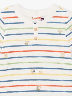 Body ecrù e blu a righe neonato TARAFAEL / 20E1BGQ1BOD001