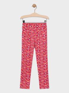 Pantaloni con stampa a fiori rosa bambina TAEFIETTE 2 / 20E2PFM2PANF510