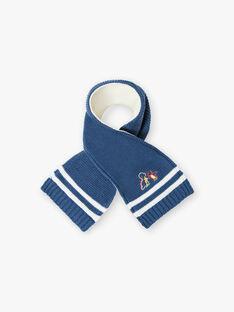 Sciarpa blu genziana in maglia ZUBADOUR / 21E4BGM1ECHC230