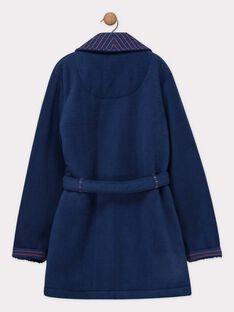 Vestaglia blu notte in finta pelliccia bambino SEROBAGE / 19H5PGK1RDC201