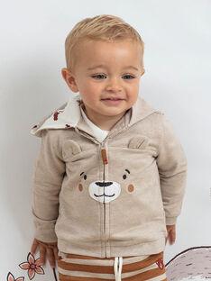 Felpa con cappuccio grigia motivo orsetto neonato BALEO / 21H1BGJ1JGH811