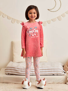 Set camicia da notte e leggings rosa corallo motivo unicorno bambina BEBOUNETTE / 21H5PF71CHN419