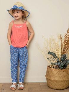 Pantaloni blu bambina ZUPATETTE1 / 21E2PFT1PANC208
