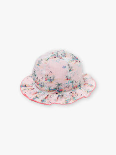 Cappello double face con stampa e Vichy ZASABLE / 21E4BFU1CHA321