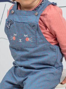 Salopette in jeans a pois tasca gatto neonata BAKAREN / 21H1BFL1SALP269
