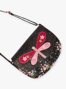 Borsa a tracolla nera con motivo farfalla bambina BRIDJETTE / 21H4PFM1BES090