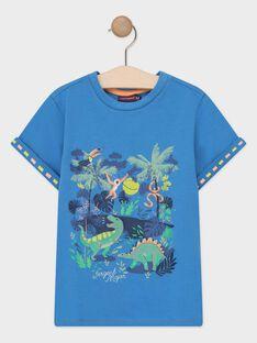 T-shirt maniche corte blu bambino TUMAGE / 20E3PGX1TMCC232