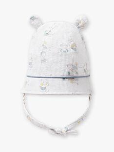Cappello con stampa in popeline neonato ZOMATEO / 21E0AGY1CHA000