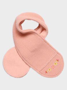 Sciarpa rosa punto legaccio neonata TABICHE / 20E4BFB1ECH307