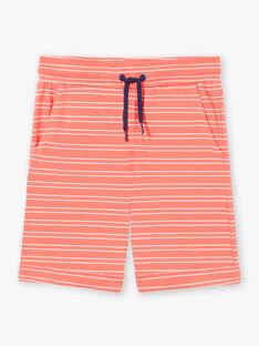 Completo da spiaggia blu e corallo canottiera e shorts bambino ZIPALAGE2 / 21E3PGQ2ENS622