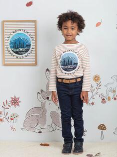 Jeans blu scuro con cintura bambino BIDISAGE / 21H3PGJ1JEAP270