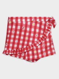 Shorts mare vichy bambina TIJOETTE / 20E4PFI1SDB050