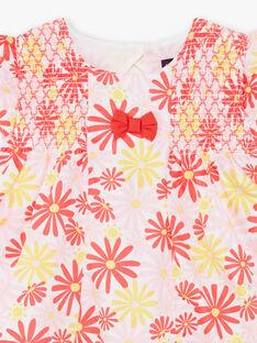 Abito e bloomer rosa e giallo stampa a fiori neonata TYGALA / 20E1BFZ3ROB001