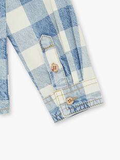 Camicia blu ed ecrù bambino ZECIAGE / 21E3PGB1CHMC230