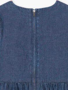 Completo abito blu in denim e borsa ZETOUNETTE / 21E2PFI1ROBK005