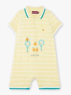 Tuta a righe giallo limone neonato ZAMATHEO / 21E1BGO1CBLB104