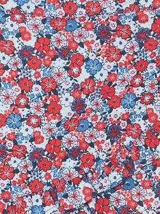 Shorts mare a fiori blu e rossi bambina ZAITUETTE / 21E4PFR3SDB020