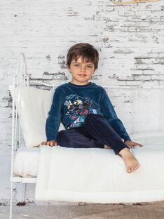 Pigiama t-shirt e pantaloni petrolio bambino BEMERAGE / 21H5PG62PYJ714