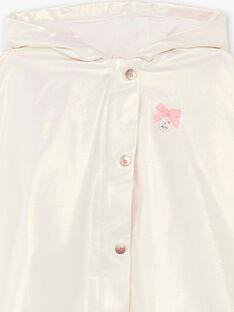 Mantella iridescente con cappuccio in tela cerata ZUALISON / 21E1BFM1CPE632