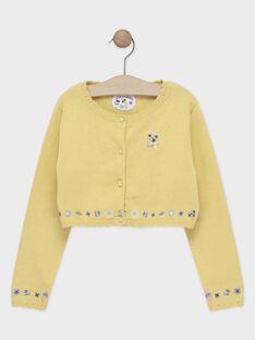 Cardigan giallo bambina TOICAETTE / 20E2PFO1CAR103
