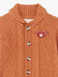 Cardigan in maglia marrone neonato BALUBIN / 21H1BGJ1GIL809