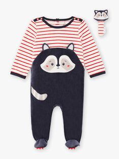 Tutina a maniche lunghe motivo orsetto lavatore neonato BEALBERT / 21H5BG61GRE942
